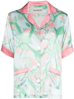 Helmstedt Strawberry Print Silk Pajama Shirt