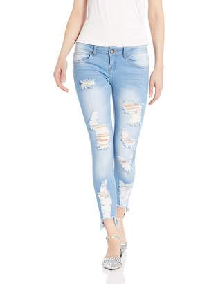 Cover Girl Size Cute Mid High Rise Waisted Torn Skinny Juniors