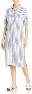 XCVI Gael Striped Midi Shirt Dress
