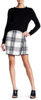 Joe Fresh Plaid Faux Leather Mini Skirt