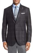 Lubiam Men's L.b.m 1911 Classic Fit Plaid Silk & Wool Sport Coat