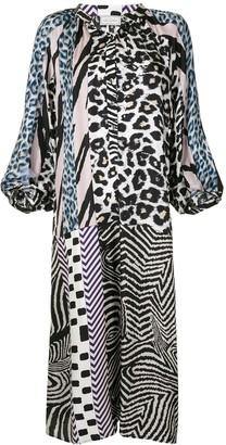 Pierre Louis Mascia Mixed-Print Dress