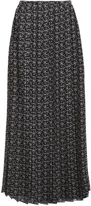See by Chloe Pleated Printed Crepe Skirt