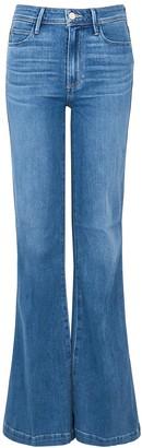 Paige Genevieve Transcend Blue Flared Jeans