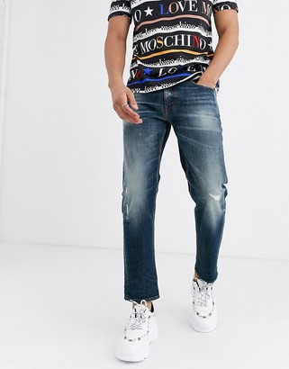 Love Moschino cropped slim jeans