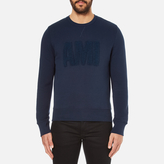 Ami Men's Crew Neck Sweatshirt Night Blue