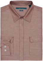 Perry Ellis Slim Fit Iridescent Jaspe Fabric Shirt