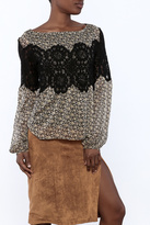 Judith March Lace Overlay Blouse