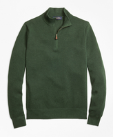 Brooks Brothers Cotton Cashmere Pique Half-Zip Sweater