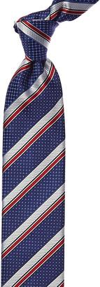 Canali Blue & Red Stripe Silk Tie