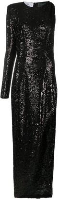 NERVI Sequinned One-Shoulder Gown
