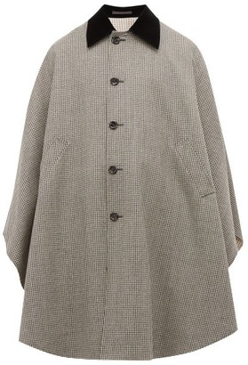 Gucci Houndstooth Wool Cape - Mens - Black Multi
