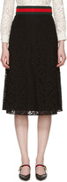 Gucci Black Cluny Lace Skirt