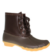 Brown Lace-Up Duck Boot - Women