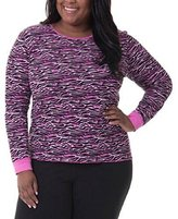 Fruit of the Loom Women's Plus Size Fit for Me Waffle Thermal Crew Top