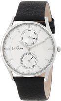 Skagen Men's SKW6065 Holst Black Leather Watch