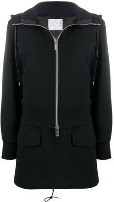 Sacai Half-Zipped Coat