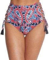 Michael Kors Swimwear Angelina Lace Up High Waist Bikini Bottom 8152080