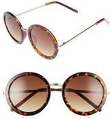 A. J. Morgan Women's A.j. Morgan 51Mm Round Sunglasses - Black
