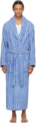 Tekla Blue Striped Bath Robe