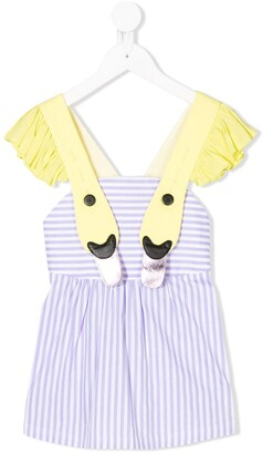Wauw Capow By Bangbang Lovely Liv swan strap top