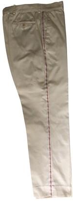 Miu Miu Beige Cotton Trousers