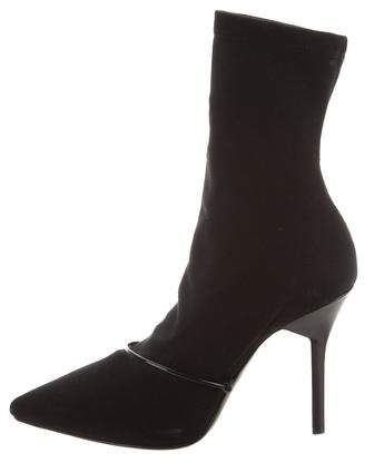 Givenchy Knit Pointed-Toe Ankle Boots
