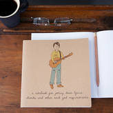 STUDY Lou Brown Designs Guitar Boy Notebook