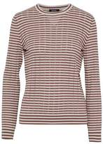 A.P.C. Striped Pointelle-Knit Cotton Silk And Cashmere-Blend Sweater