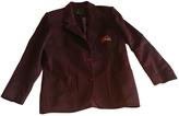 Burberry Burgundy Wool Jacket
