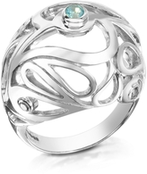 Sho London Sterling Silver Mari Splash Boule Ring