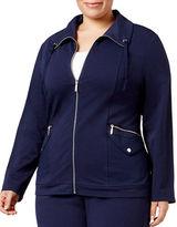 Karen Scott Plus Zip-Up Jacket