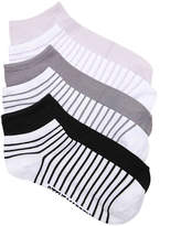 Steve Madden Women's Stripe Women's No Show Socks - 6 Pack
