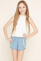 Forever 21 Girls Denim Tulip Shorts (Kids)