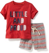 Old Navy 2-Piece Tee & Shorts Set for Baby