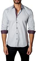 Jared Lang Twill Trim Fit Dress Shirt