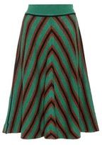 Miu Miu Striped wool skirt