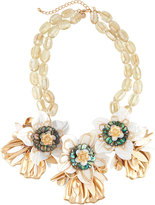 Lydell NYC Oversized Flower Statement Bib Necklace