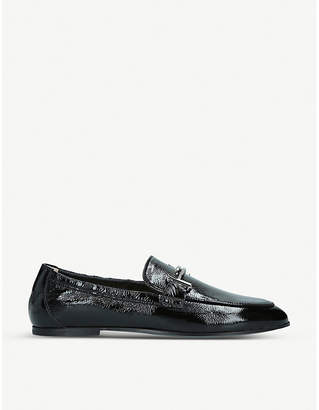 Tod's Tods Patent leather buckle loafers