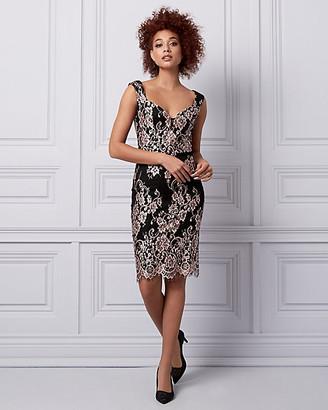 Le Château Lace V-Neck Cocktail Dress