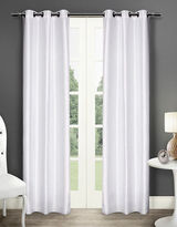 Home Outfitters Dupioni Two-Pack Window Curtains