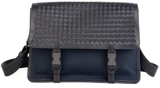 Bottega Veneta Tech Canvas Messenger Bag