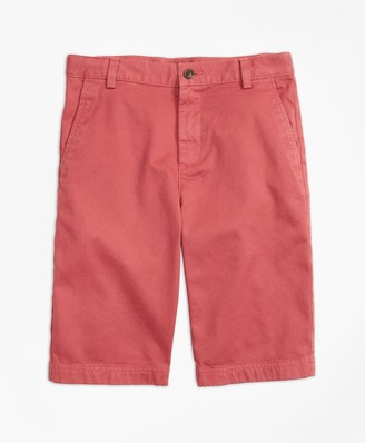 Brooks Brothers Boys Washed Cotton Stretch Chino Shorts