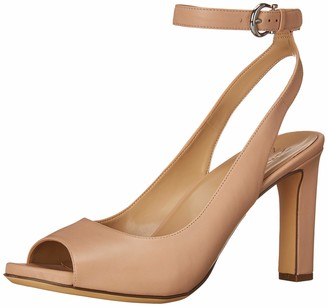 Naturalizer Womens Orella Nude Leather Ankle Strap Heeled Sandal 7.5 W