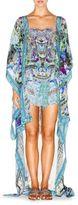 Camilla Floral Print Silk Coverup