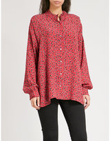 Zadig & Voltaire Tamis Liberty crepe floral-pattern crepe shirt