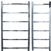John Lewis Peel 900 Central Heated Towel Rail and Valves, from the Floor