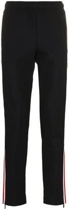 MONCLER GRENOBLE Zipped Hem Stripe Trousers