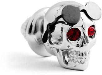 Tateossian Men's Aviator Skull Pin w/ Swarovski Crystal Eyes