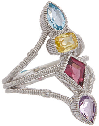 Judith Ripka Rio Silver 3.93 Ct. Tw. Gemstone Cz Ring